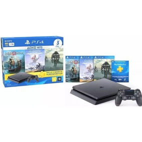 Playstation 4 Sony Ps4 Slim 1tb 3 Jogos Psn - 2 Controles