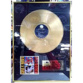 Quadro Disco De Ouro Guns N Roses Appetite Pronta Entrega
