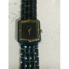 d180376e992 Bulova Relógio Mod. 98e107 27 Diamantes Ceramica - Relógios no ...