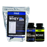 Kit Nutri Whey + Creatina 100g + Bcaa 60 Caps - Evolve
