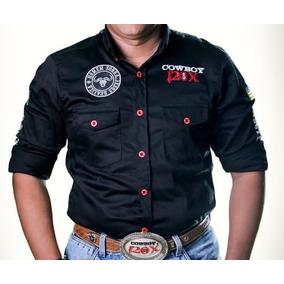 Camisa Manga Longa Country Cowboy 120x Com Elastano bb6976e7781