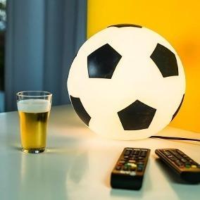 Luminaria De Mesa Bola De Futebol Gol Abajur Presente Natal 46d37682945e1