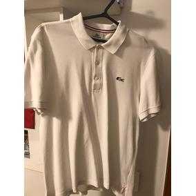 Camisa Polo Lacoste Branca France Logo Original Tam M 49008f38cc94a