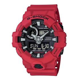 Relógio Casio Masculino G-shock Ga-700-4adr Vermelho