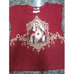 Blusa Infantil Do Imaculado Coração De Maria Com Brilhos
