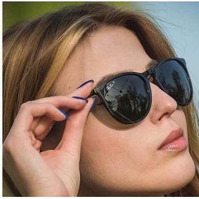 fa9b4d3c5e6df Óculos De Sol Rayban Feminino Erika Preto Fosco Lente Preta - Óculos ...