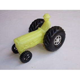 Mini Trator Agrícola Brinquedo Antigo Plástico Soprado #2