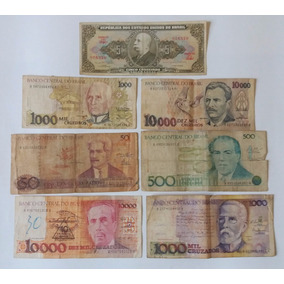 08 Cédulas De Dinheiro Antigo - Notas Raras Coleção Cod10