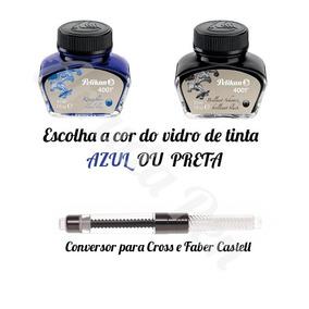 Conversor Faber Castel / Crown Para Caneta Tinteiro + Tinta
