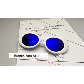Oculos Kurt Cobain Retro Nirvana Branco Lente Azul Espelhado d91d75a923