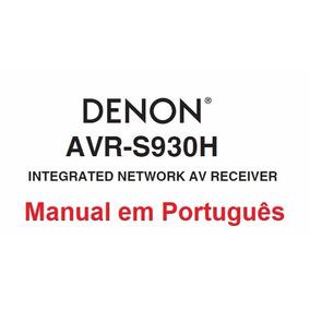 Manual Em Português Do Receiver Denon Avr-s930h