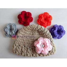 Gorro Con Flores En Crochet en Mercado Libre México 7ee2d62176f