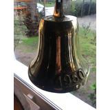 Campana Bronce Tipo Antigua 20 Cm Timbre Llamador Entrada