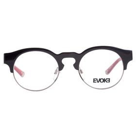 4c7488969e61c Evoke Capo Iii - Óculos De Grau H01 Black Shine Temple Purpl