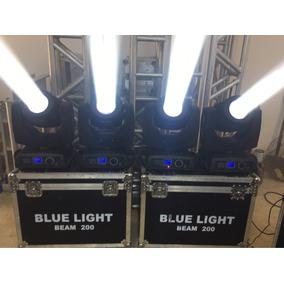 4 Moving Head Beam 200 5r Blue Light Por R$ 2.500,00 Cada.