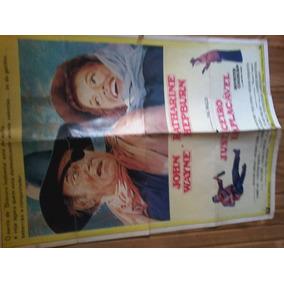Cartaz De Cinema Antigo John Wayne Justiceiro Implacável