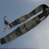 Pack 50 Lanyard Portacredencial Medico De 2cm Negro