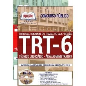 Apostila Trt 6ª Região 2018 Técnico Judiciário - Área Admin