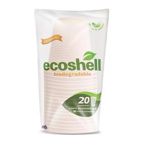 Vaso 8 Oz Desechable Biodegradable Ecoshell  caja 