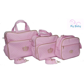 Kit 3 Bolsas Maternidade Enxoval Menina-menino Barato