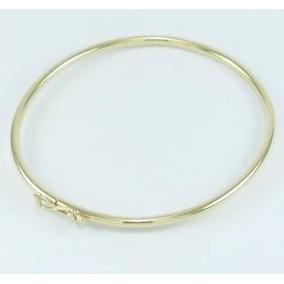 Pulseira Bracelete C  Trava De Segurança Ouro 750 Rose Leilã ... 60ba176444