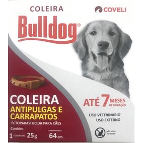 Coleira Bulldog Anti Pulgas E Carrapatos Para Caes 25g