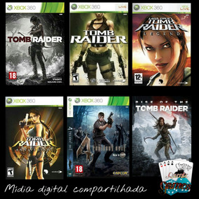 Combo Tomb Raider+resident Evil 4 Digital Compartilhado X360