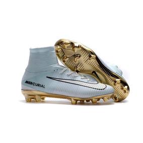 Chuteira Nike Mercurial Cr7 Dourada - Chuteiras Nike de Campo no ... 52bddac29e855