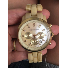 b013ffe4b09 Relógio Michael Kors Omk5039z Bege - Relógios no Mercado Livre Brasil