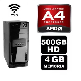 Cpu Gamer Barata Amd A4 6300 4gb Hd500gb Radeon 2gb Wifi