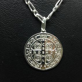 2d19963171c4b Medalha São Bento Grande Prata 925 Pingente - Joias e Relógios no ...