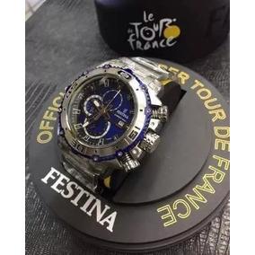 0ebb7c08f75 Festina Chrono Bike Dourado E Azul - Relógios De Pulso no Mercado ...
