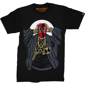 6ad13067f Camiseta Printfull Deadpool Gangsta - Collection 016