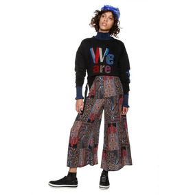 Falda Pantalón Textil Multicolor Desigual