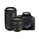 Kit Cámara Profesional Reflex Nikon D3500 C/18-55 Y 70-300