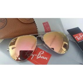 80d66023fb1d2 Ray Ban Aviador Lentes Rosa Espelhada - Óculos no Mercado Livre Brasil