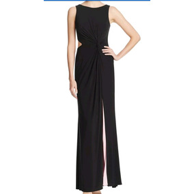 91d5a28b0a Vestido Formal Corto Strapless Para Dama. Usado · Vestido De Noche Negro  Con Abertura