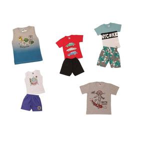 Kit 8 Peças Conjuntos E Camisetas 1 Ao 3-disponível