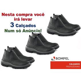 a75ae503d370a Bota Bompel Pri9001 Biqueira Bpl - Sapatos no Mercado Livre Brasil