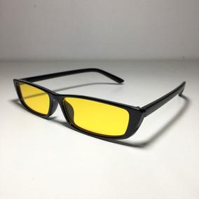 1caf52467d1e2 Óculos Quadrado De Sol Retro Vintage Anos 90 Amarelo. R  60