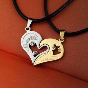 Colar Cordão Coração Com Strass Namorados Apaixonados