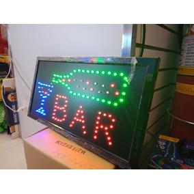 Placa Painel De Led Letreiro Luminoso Bar 110v +1 Caixa 110v