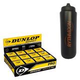 Kit Bola Squash Revelation Pro Dunlop Cx C/ 12 Uni + Squeeze