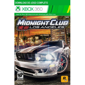 Midninght Club Los Angeles Xbox 360 - Mídia Digital