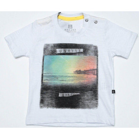 Camiseta Bebê Menino Banana Danger Flame Branca Sunrise - 5db843df376