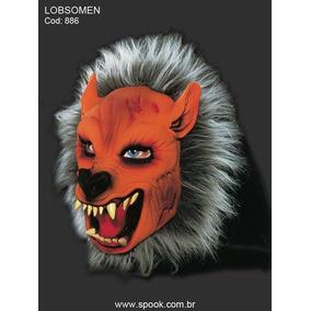 Mascara Carnaval Lobisomen Americano Peludo Lobo Mau Fera