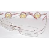 8ea6426c3f033 Armação Oculos De Grau Silhouette Sem Aro Titanium Feminina