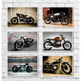 2a0a00c88d6 Kit Placas Decorativas Vintage Retro Motos - 06 Placas