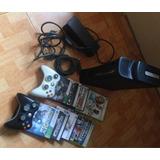 Xbox Elite 360 De 120 Gb + 8 Juegos + 2 Controles + Chip.