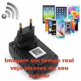 Carregador Wifi Camera Tempo Real Acesso Celular Espionagem